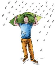 Mapa odporna na deszcz i wiatr