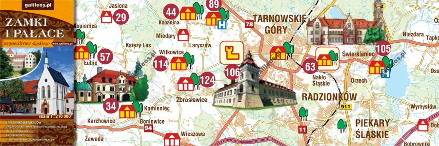 Okładka Zamki i pałace województwa śląskiego
