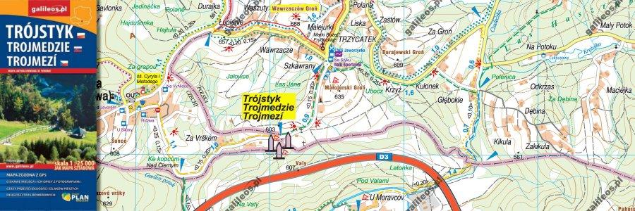 Okładka Mapa trójstyku granic – jak mapa sztabowa
