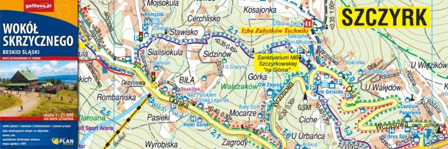 Okładka Wokół Skrzycznego, Beskid Śląski – jak mapa sztabowa