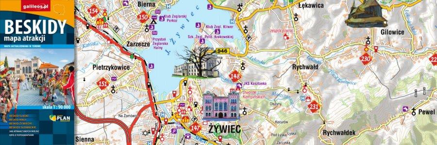 <i class='fa fa-link'></i> <a title='Przejdź do artykułu' href='http://www.plan.pl/nowosci-wydawnicze/beskidy-mapa-atrakcji/'>Beskidy mapa atrakcji</a>
