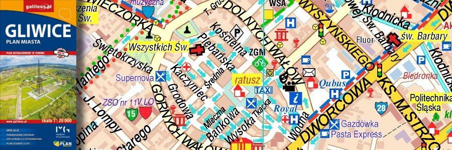 Okładka Gliwice – plan miasta