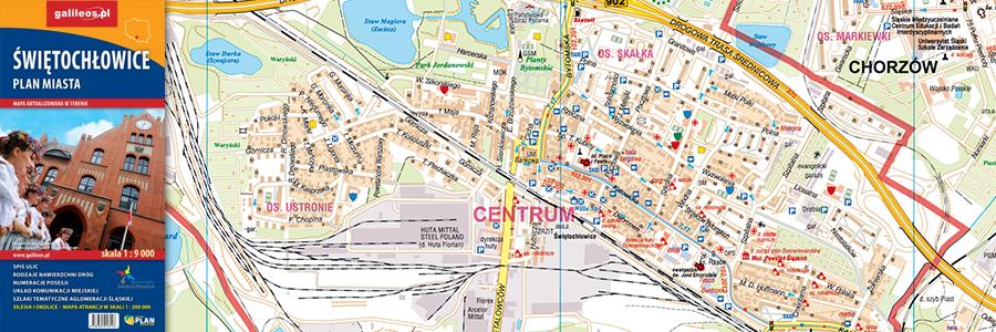 Okładka Świętochłowice plan miasta