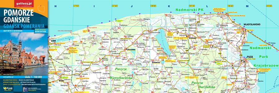 Okładka Pomorze gdańskie – mapa z przewodnikiem