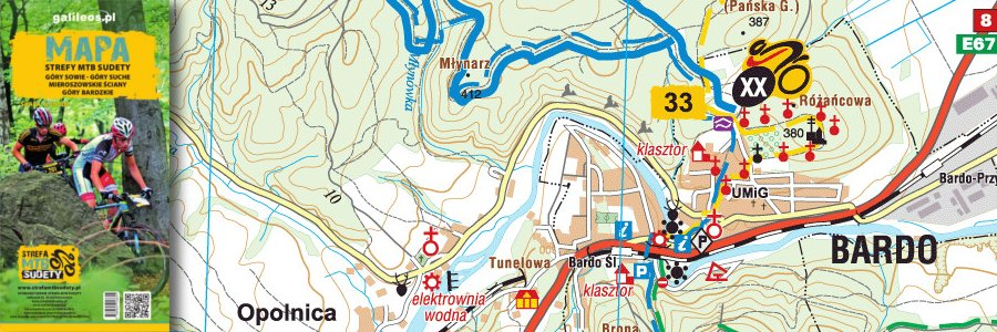 Okładka Mapa tras rowerowych MTB